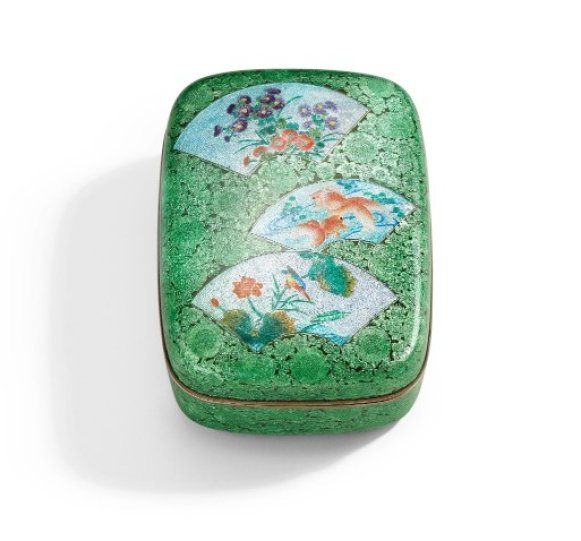 Cloisonné Enamel Box, 19th – 20th century, Cloisonné enamel, Height 5 x Width 9.5 x Depth 12cm, © Liang Yi Museum Collection